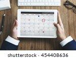 calendar appointment schedule... | Shutterstock . vector #454408636