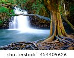 Landscape View Of Waterfall And ...