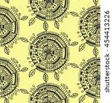decorative boho circle ... | Shutterstock .eps vector #454413226