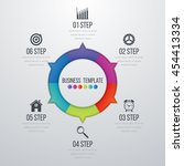 infographic design with colored ... | Shutterstock .eps vector #454413334
