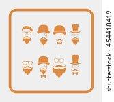 retro gentleman icon set. | Shutterstock .eps vector #454418419
