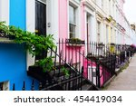 colorful typical row houses in... | Shutterstock . vector #454419034