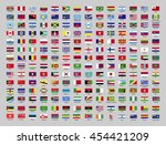 flags of the world with the... | Shutterstock .eps vector #454421209