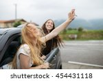 young and beautiful girls... | Shutterstock . vector #454431118