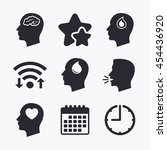 head with brain icon. male... | Shutterstock .eps vector #454436920
