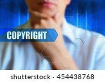 copyright title button. person... | Shutterstock . vector #454438768