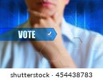 vote concept image. person... | Shutterstock . vector #454438783