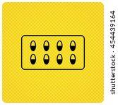 medical capsules icon. medicine ...   Shutterstock .eps vector #454439164
