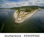 discovery park point lighthouse ... | Shutterstock . vector #454439560