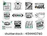vector set of back to school ... | Shutterstock .eps vector #454440760