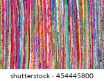 close up colorful hand woven... | Shutterstock . vector #454445800