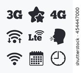 mobile telecommunications icons.... | Shutterstock .eps vector #454447000