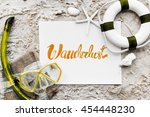summer travel trip vacation... | Shutterstock . vector #454448230