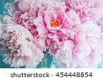 fresh bunch of pink peonies... | Shutterstock . vector #454448854