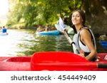Brunette Woman Smiling In A...