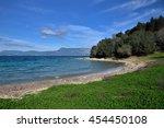 idilllyc beach at vidos island  ... | Shutterstock . vector #454450108