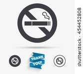 no smoking sign icon. quit... | Shutterstock .eps vector #454452808