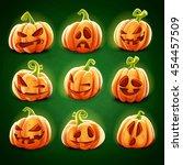 pumpkin for halloween   Shutterstock .eps vector #454457509