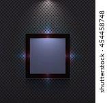 ultra modern frame on wall. | Shutterstock .eps vector #454458748