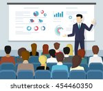 business seminar speaker doing... | Shutterstock .eps vector #454460350