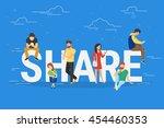 Share Concept Illustration Of...