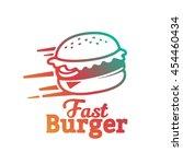 burger logo sticker emblem | Shutterstock .eps vector #454460434