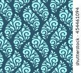 vector floral seamless pattern... | Shutterstock .eps vector #454461094