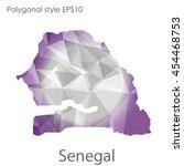 senegal map in geometric... | Shutterstock .eps vector #454468753