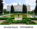 view of the royal palace of... | Shutterstock . vector #454468846