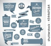 vintage labels set   origami... | Shutterstock .eps vector #454469164