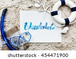 summer travel trip vacation... | Shutterstock . vector #454471900