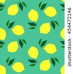 seamless pattern with lemons on ... | Shutterstock .eps vector #454472146