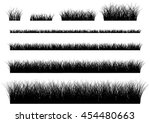 vector grass isolated on a... | Shutterstock .eps vector #454480663