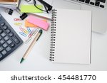 Blank Notebook With Laptop  An...