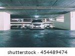 empty parking lot in car... | Shutterstock . vector #454489474