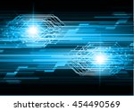 blue abstract cyber future... | Shutterstock .eps vector #454490569