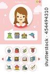 icon set character vector | Shutterstock .eps vector #454494310