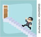 entrepreneurs climb the ladder... | Shutterstock .eps vector #454498900