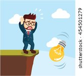 a businessman dropping the ball ... | Shutterstock .eps vector #454501279