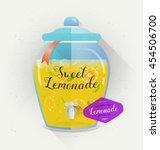 vector lemonade typography... | Shutterstock .eps vector #454506700