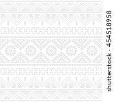 native american ethnic pattern... | Shutterstock .eps vector #454518958
