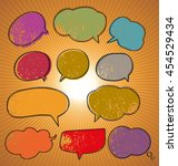 illustration of speech bubble... | Shutterstock .eps vector #454529434
