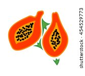 papaya logo vector.   Shutterstock .eps vector #454529773