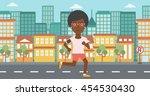 an african american woman... | Shutterstock .eps vector #454530430