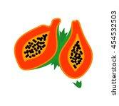 papaya logo vector.   Shutterstock .eps vector #454532503