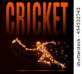 abstract cricket background.... | Shutterstock .eps vector #454532743