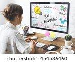 creativity design process... | Shutterstock . vector #454536460