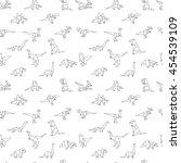geometric dinosaurs  seamless... | Shutterstock .eps vector #454539109