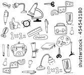 collection stock school tools... | Shutterstock .eps vector #454543180
