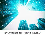 smart city and internet of... | Shutterstock . vector #454543360